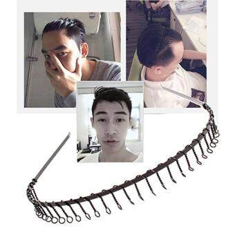 Harga GRACEFULVARA SPORT HAIRBAND MENS SPORTS HEADBAND TOOTHED METAL FOOTBALL HAIR BAND WOMEN MEN-BLACK