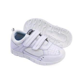 Harga Abaro School Shoes [NEW] 2685 - White Canvas + PVC Primary School Unisex
