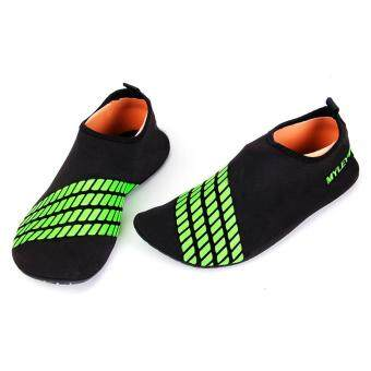 Harga Surf Aqua Beach Sport Water Shoes(Black and Green)