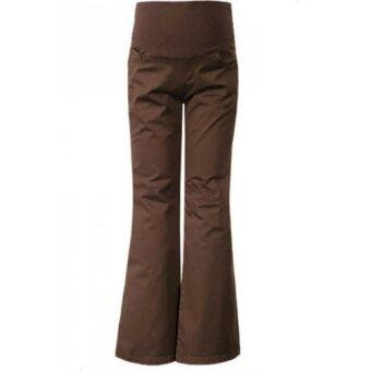 Harga Maternity Stretchable Bell Bottom Dark Brown