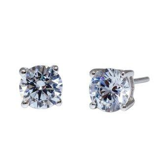 Harga Kelvin Gems Premium 4 Prong Solitaire Stud Earrings m/w SWAROVSKI Zirconia