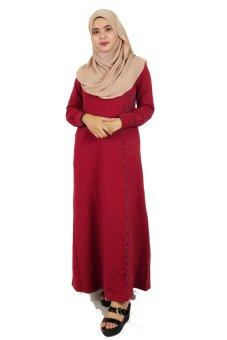 Harga Aqeela Muslimah Wear Jubah with Piping Red