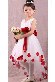 Harga Girls Princess Flower Petals Party Fantasy Formal Gown Fancy Dress