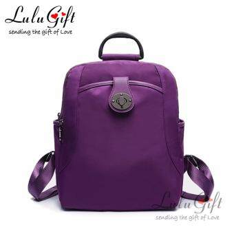 Harga Lulugift New Trend Oxford Knapsack Lady Bag Purple