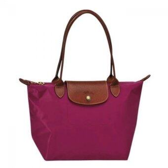 Harga Longchamp Le Pliage Long Handle Medium (Raspberry)