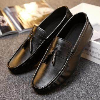 Harga 2016 Fall new men 's fashion shoes the British trend of green pea loafers shoes
