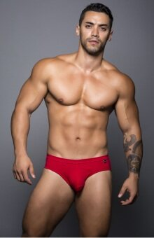 Harga ANDREW CHRISTIAN Basix Tagless Comfort Brief (red)
