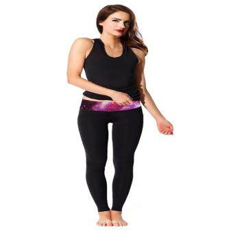 Harga LALANG Yoga Pants Long Leg Sport Pants Running Fitness Legging Clothing Gym Sports Wear (Purple)