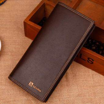 Harga Hot Men Wallet Leather Long Clutch Wallets for Men Bifold Coin Purse Slim Fashion Male Wallets