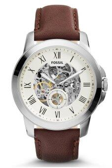 Harga Fossil ME3052 Grant Three Hand Automatic Leather Watch (Brown)