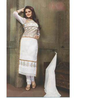 Harga Bolly Fashion Fancy Punjabi Suit White