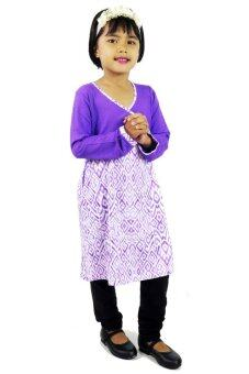 Harga Aqeela Muslimah Wear Kids Kimono Purple Top
