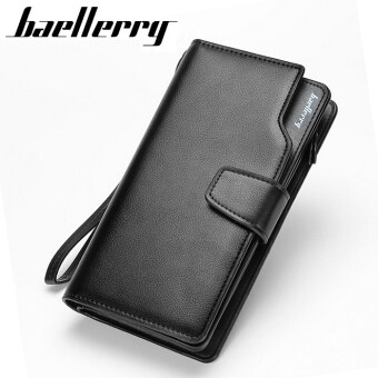 Harga 2016 New men wallets Casual wallet men purse Clutch bag Brand leather wallet long design men bag gift for men