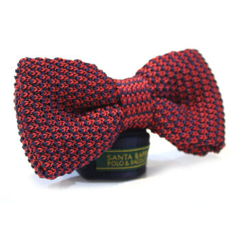 Harga SBPRC - Houndstooth Knitted Bow Tie (Red/Navy)