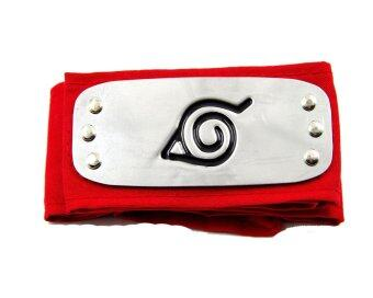 Harga Anime Naruto Konoha Village Ninja Cosplay Headband Forehead Protector (Red)