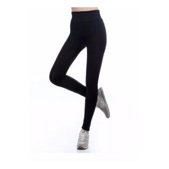 Harga Women Sports Pants Yoga Wear Sport Trousers Yoga Pants 9 Points Jogging pants Body Shaper Cycling Pants (Black)
