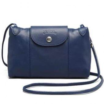 Harga Longchamp Le Pliage Cuir Crossbody Bag (Navy)