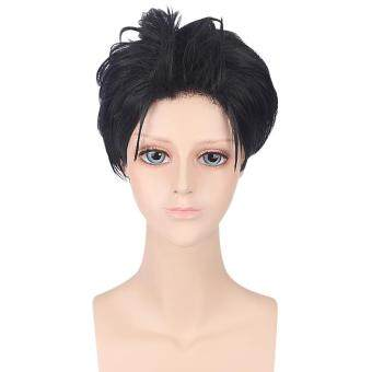 Harga Short Black Synthetic Wigs Cosplay For Zero Kara Hajimeru Isekai Seikatsu Natsuki Subaru Figure(Black)