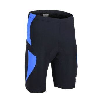 Harga Men Cycling Shorts Silicone Gel Padded Bicycle Mountain Bike Shorts Pant Compression Tights – Blue