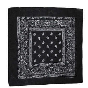 Harga Gracefulvara New Paisley Bandana Head wrap Cotton Head Wrap Neck Scarf Wristband Handkerchief - Black