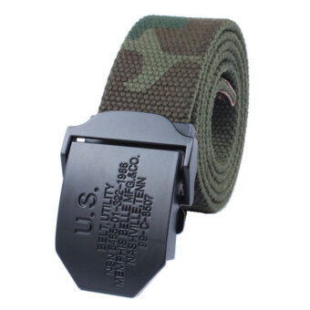 Harga Men's Fashion Casual Canvas Belt(Camouflage) - Intl