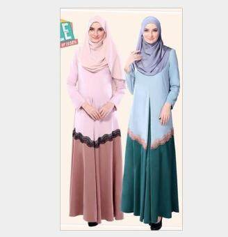 Harga Muslim Lady Dress National Wind Color Blue