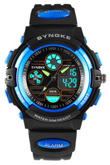 Harga Synoke Boy's Sports Watch Blue UF-WSN018D
