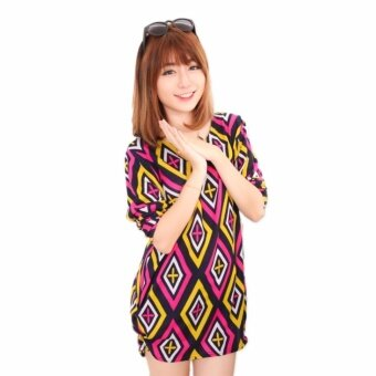Harga LuvClo (Fit M~3XL) Fashion Style Stunning Design Printed Long Sleeves Top (Yellow)