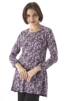 Harga Aqeela Muslimah Wear Basic Top Purple Blossom