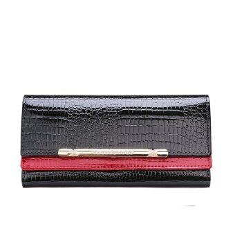 Harga KEVIN YUN Luxury Women Wallet Patent Leather Lady Fashion Clutch Purse Red