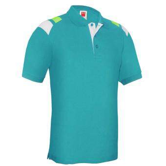 Harga Kings Polo Tee - Turquoise / White / Lime Green (Unisex)