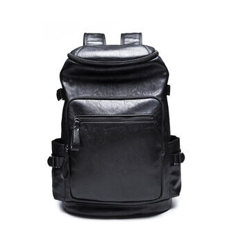 Harga 2017 Hot Sales New Men Academy Rucksack Bag Korean School Back Pack Leather Travel Backpack Bag