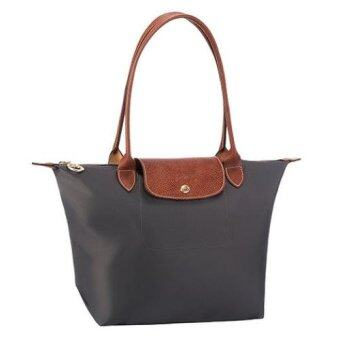 Harga Longchamp Le Pliage Long Handle Medium (Grey)