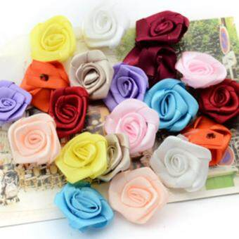Harga 400pcs DIY handmade ribbon rose flower cartoon bouquet decoration accesory