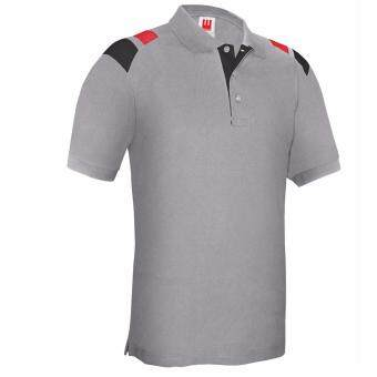 Harga Kings Polo Tee - Grey / Black / Red (Unisex)