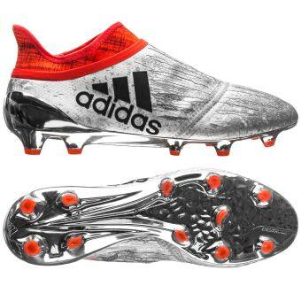 Harga adidas X 16+ PureChaos FG/AG - Mercury Silver Metallic/Core Black/Solar Red UK8.5