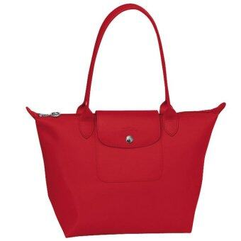 Harga Longchamp Planetes Long Handle MediumTote Bag Red