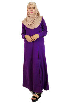 Harga Aqeela Muslimah Wear Jubah with Piping Purple