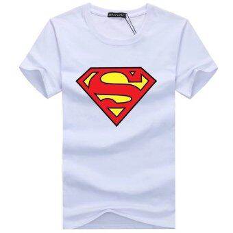 Harga Short Sleeves T-Shirt - Superman Logo - White