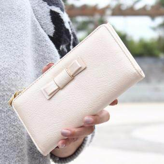 Harga Polly Molly Trendy 2fold Ribbon Multipurpose PU Leather Wallet_Beige