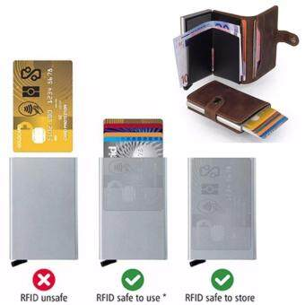 Harga Business Blocking Travel Card Wallet Automatic Pop Up Click Slide Card Holder Bank Kart Case Aluminum Alloy Card Case