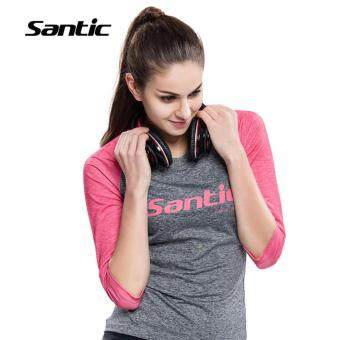 Harga Santic Women Cycling Half Sleeve Shorts Sports Anti-sweat Casual Wear T-shirt