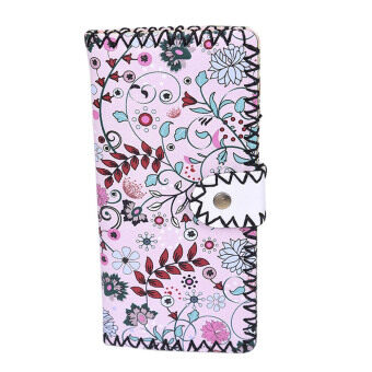 Harga Fashion Women National Pattern Embroidered Wallet Long Purse Handbag