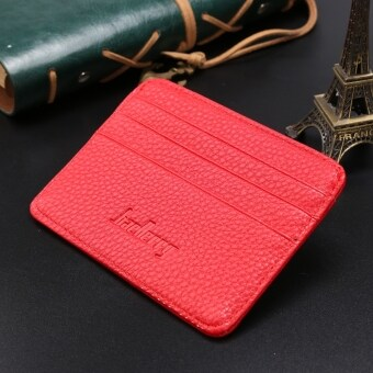 Harga Men Casual Synthetic Leather Wallet Credit Card ID Holder Slim Wallets Photo holder