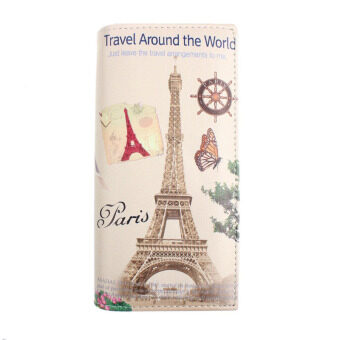 Harga New Paris Tower Pattern Women Long Purse Clutch Wallet Bag Card Holder - Intl