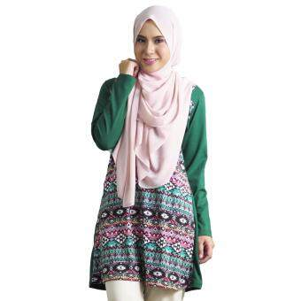 Harga Aqeela Muslimah Wear Overall Top Green Tribal aq900b