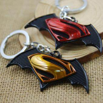 Harga 2pcs Superman Vs Batman Key Chain Key Ring Holder Keyring Men Souvenirs Bag Pendant Car