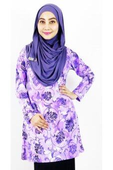Harga Aqeela Muslimah Wear Basic Top Purple Floral