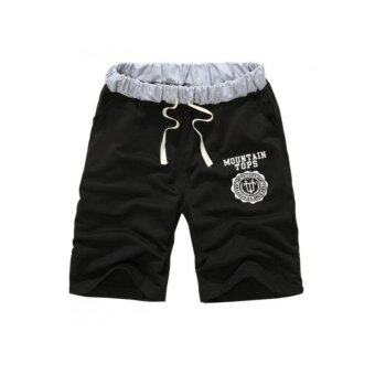 Harga Men's casual sports wear shorts-Black
