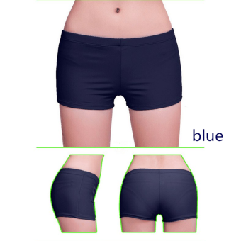 Harga (Swimwear)New Women Shorts Plain Bikini Swim Swimwear Lady Boy Style Short Brief Bottoms M Blue